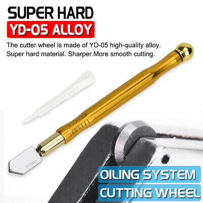 Professional Glass Cutter Oil Lubricated Cutters With Tungsten Carbide Precision