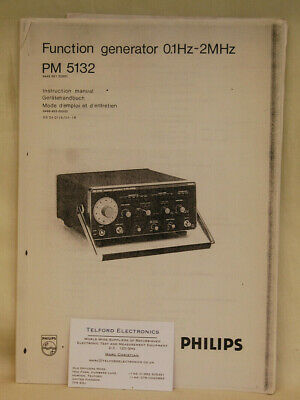 Philips PM5132 Function Generator 0.1Hz-2MHz Instruction Manual Photocopy