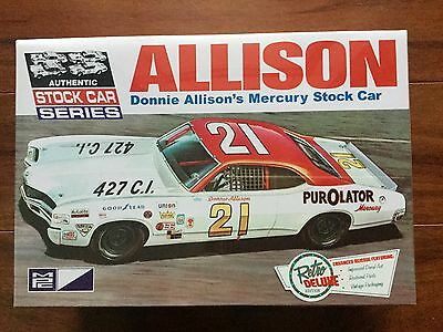 Mpc 1/25 Donnie Allison Mercury Cyclone Stock Car Model Kit # 796 Factory Sealed