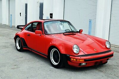 1985 Porsche 911 M491 Turbo Look 1 Owner-Red on Red possibly 1 of 1 built-turbo look wide body M491 Sport Seats