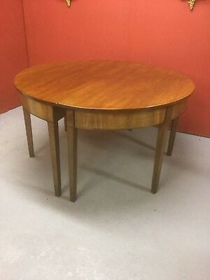 Antique Georgian D End Extending Dining Table Sn-695