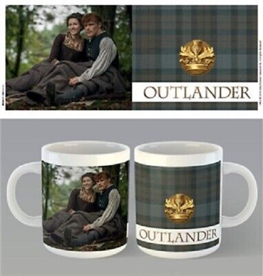 Outlander - Tartan Jamie Claire Mug x 2 BRAND NEW (Set of 2 Mugs)