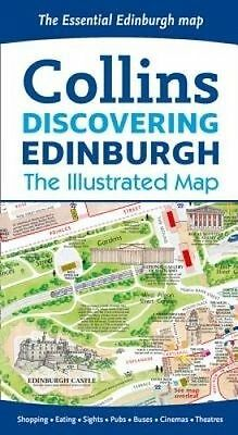 Discovering Edinburgh Illustrated Map by Collins Maps (Sheet map, folded book, 2