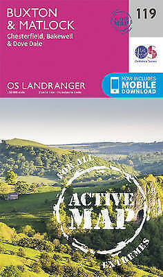 Buxton & Matlock, Chesterfield, Bakewell & Dove Dale by Ordnance Survey (Sheet m