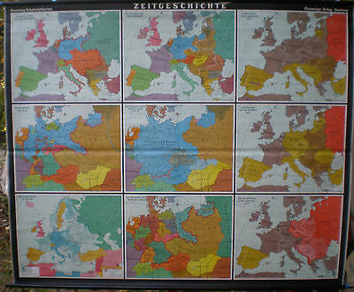 Schulwandkarte Map Card Time History Wall Map School Map Map 206x169