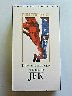 JFK An Oliver Stone Film Kevin Costner VHS 2 Cassette Set Special Edition NEW