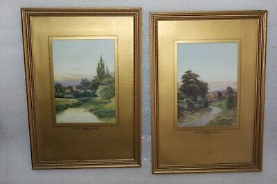 George Oyston (1861 - 1937) Pair In The Thames Valley & Long Crendon  Prints