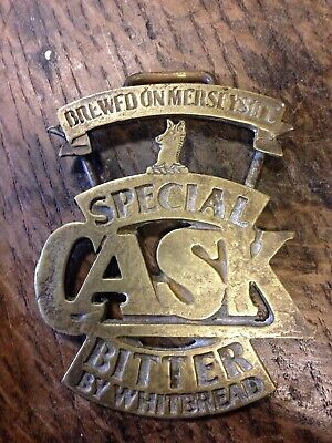 Brass Whitbread Beer Cask Sign (man Cave ) Lot 2