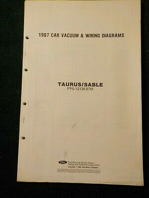 1987 ford taurus & mercury sable electrical schematic wiring diagram manual