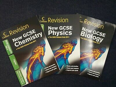 Collins Revision GCSE AQA Biology, Chemistry & Physics Revision & Workbooks 3pk