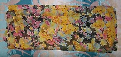 Vintage 60s 70s Sheer Floral Silk Fabric 4 yards