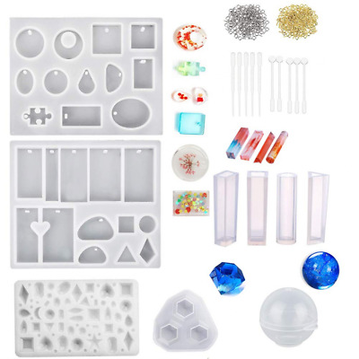 Silicone Resin Moulds for Jewellery Making Epoxy Casting Kit DIY Soap