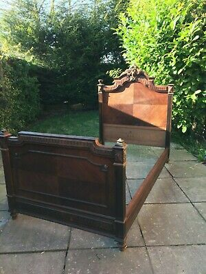 French carved single bed.