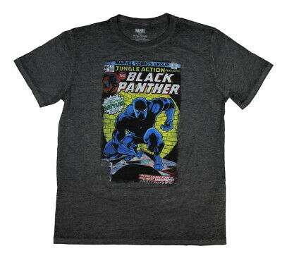 Marvel Avengers Black Panther Jungle Action Vintage Comic Book Burnout Men's