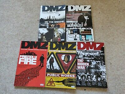 DC Vertigo DMZ Graphic novels collection Volumes 1-5 good condition paperback