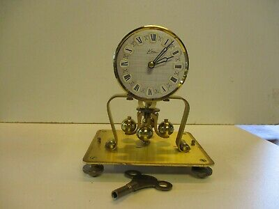 Vintage Kern  400 Day Anniversary  Glass/brass Lantern Style Clock Needs Tlc