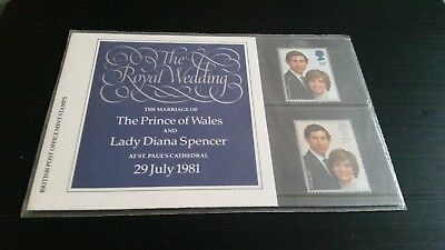 Gb Presention Pack No 127A 1981 The Royal Wedding