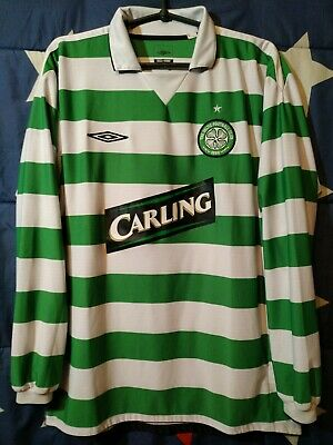 Size L Celtic 2004-2005 Scotland Home Football Long Sleeve Shirt Jersey Umbro