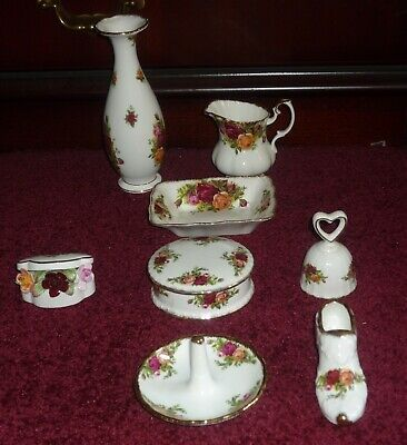 Job Lot Royal Albert Old Country Roses  8 Quality Items