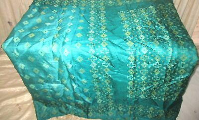 Pure silk Vintage Sari Saree Fabric REUSE 4y 301 Pck Green Woven #ABCTA
