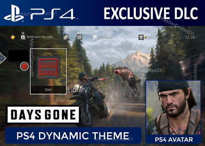 Days Gone PS4 DLC   Dynamic Theme & Avatar   PlayStation 4   Exclusive DLC Code
