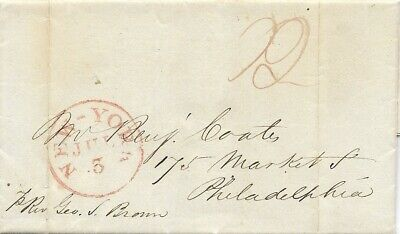 LIBERIA Monrovia 1841, 28th April, letter Governor Th. Buchanan to United States