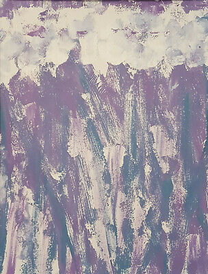 Original abstract art painting sold by artist, small, mothers day flowers purple