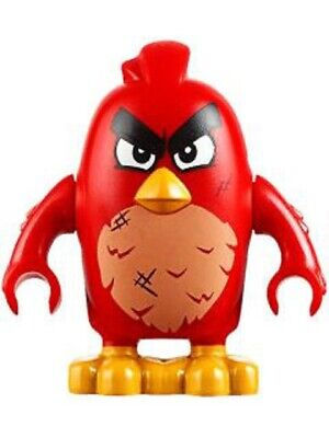 Lego The Angry Birds Movie Red Furious ang016 (From 75826) Minifigure New