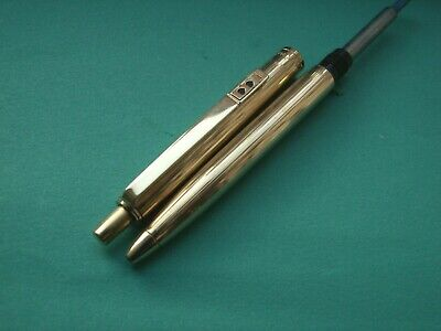 Paper Mate 'Profile' Ballpoint Pen. Gold Lined Finish. Vgc & Fwo.