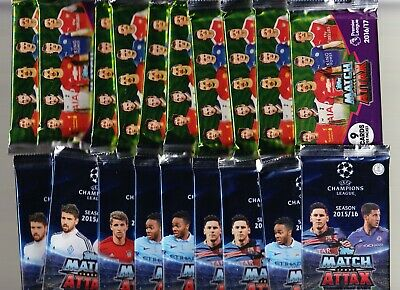 20 x Packets of TOPPS MATCH ATTAX - PL 2016-17 & CL 2015-16 - Brand New/Sealed: