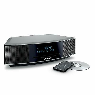 New Bose Wave Music System IV with Remote, CD Player and AM/FM Radio Silver