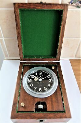 Waltham 8 Day Deck Clock / Deck Watch In Good Working Order