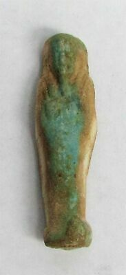 664 – 343 Bc Ancient Egypt Late Period Ushabti Faience Funerary Figurine