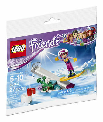 Lego Friends #30402 Snowboard Tricks~27 Pieces~New In Bag