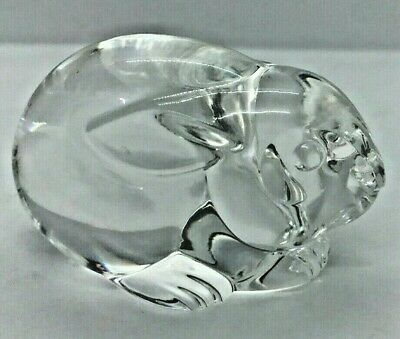 signed STEUBEN rabbit paperweight- signed- originally $395- lowest ask on EBAY