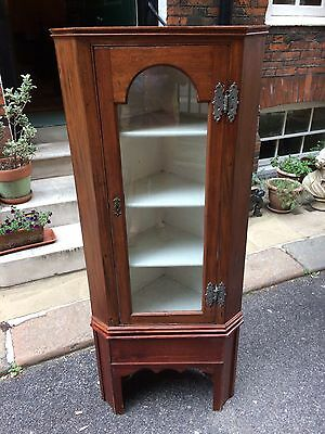 Edwardian Mahogany Corner Display Cabinet