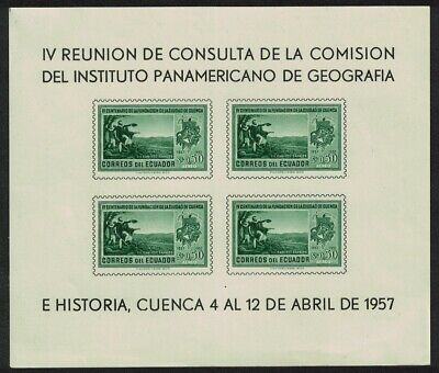 Ecuador Geographical and Historical Institute Commission MS MNH SG#MS1087b