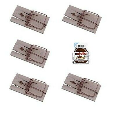 ARTECSIS Pack of 5 Wooden Mouse Traps, Timber Mice Killer, with Bait...
