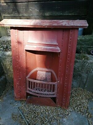Reclaimed Cast Iron Fire Place