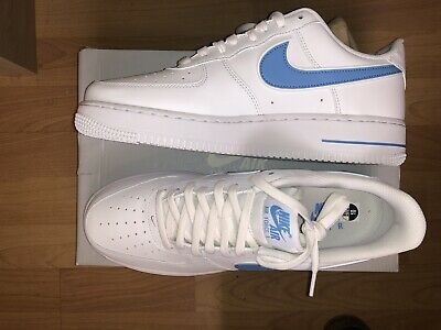 official photos c5178 d7662 Mens Nike Air Force 1 07 3 AO2423-100 White University Blue NEW Size