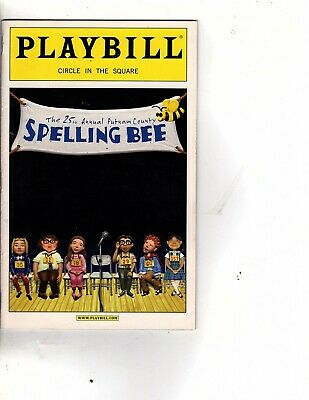 october  2007 PLAYBILL - SPELLING BEE, circle in the square (n1
