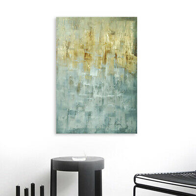 Abstract Hand Painted Art Canvas Oil Painting Home Decor - Color Block Framed