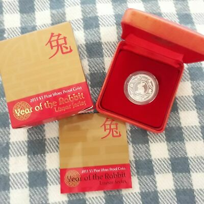 RAM 2011 Year of Rabbit Lunar Series $1 Silver Proof Coin Certificate