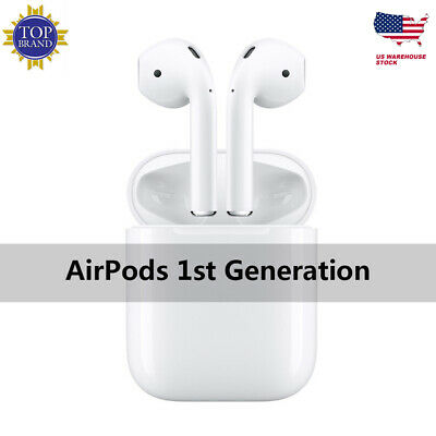 2192a4690d6d69 GENUINE Apple AirPods White In-Ear Wireless Bluetooth Headsets w/ Case  MMEF2AM/A