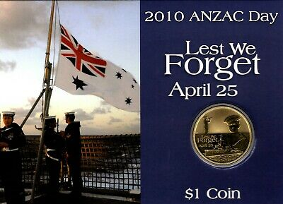 "2010 Perth Mint ANZAC ""Lest We Forget"" $1 Coin"