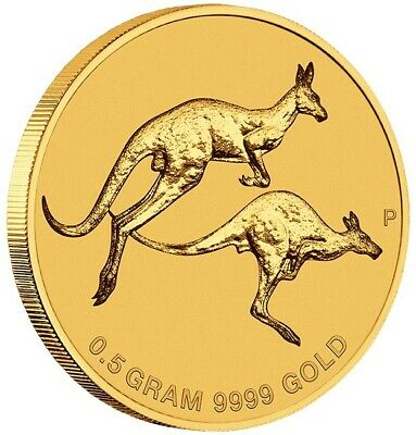 Australia 2018 Mini Roo Kangaroo $2 Gold Coin 0.5 Gram .9999 Pure Gold in Card