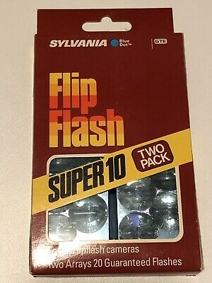 Sylvania Super 10 Blue Dot Flip Flash 20 flashes 2 per pack brand new pack