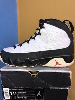 new product b39a9 25260 Nike Air Jordan 9 IX Retro White Black True Red sz 11.5 from 2001 Preowned