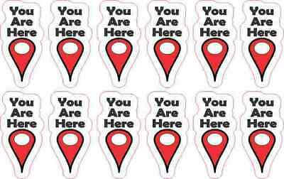 .75in x 1.5in You Are Here Pointer Stickers Car Truck Vehicle Bumper Decal