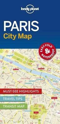 NEW Paris City Map By Lonely Planet Folded Sheet Map Free Shipping